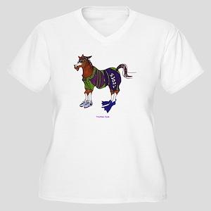 TriClyde Women's Plus Size V-Neck T-Shirt