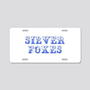 Silver Foxes-Max blue 400 Aluminum License Plate
