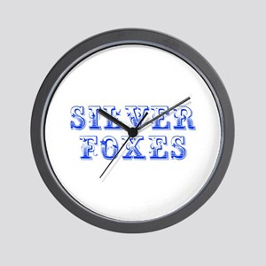Silver Foxes-Max blue 400 Wall Clock