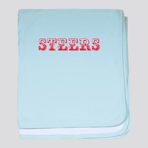 Steers-Max red 400 baby blanket