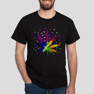 Rainbow Marijuana Sagittarius Dark T-Shirt