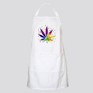 Rainbow Marijuana Sagittarius Apron