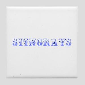 stingrays-Max blue 400 Tile Coaster