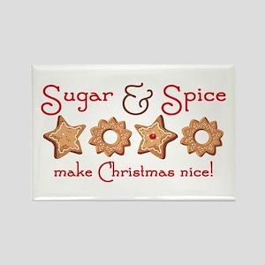 Sugar & Spice Christmas Rectangle Magnet