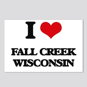 I love Fall Creek Wiscons Postcards (Package of 8)