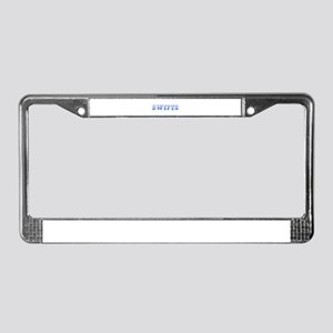 Swifts-Max blue 400 License Plate Frame