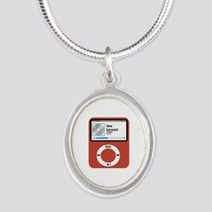 Ipad Oboe Silver Oval Necklace
