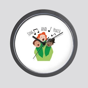 Sing and Praise Wall Clock