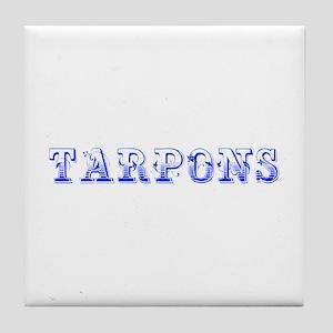 Tarpons-Max blue 400 Tile Coaster