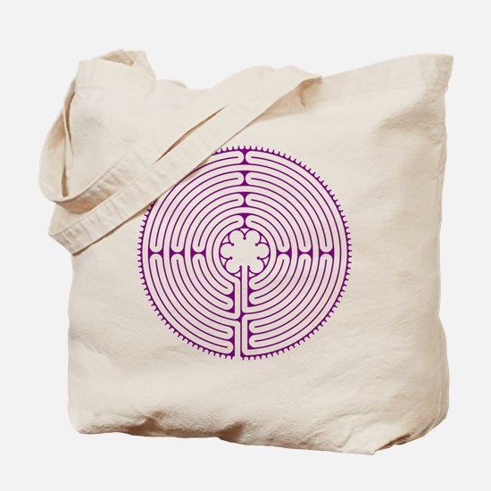 Chartres Labyrinth (purple) Tote Bag