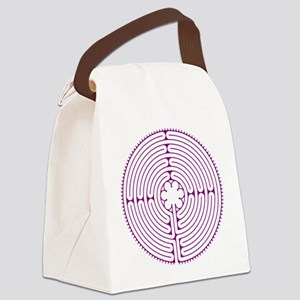 Chartres Labyrinth (purple) Canvas Lunch Bag