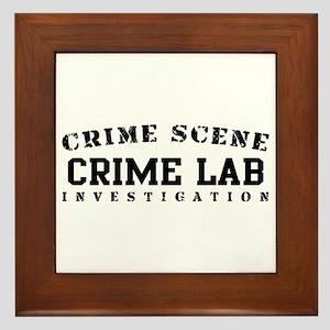Crime Lab (blk) - Crime Scene Framed Tile