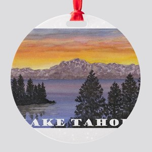 Mt. Tallac Lake Tahoe Round Ornament