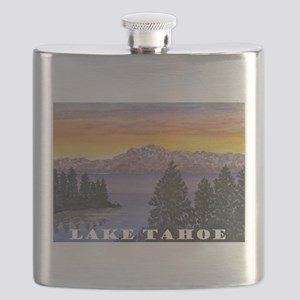 Mt. Tallac Lake Tahoe Flask