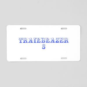 Trailblazers-Max blue 400 Aluminum License Plate