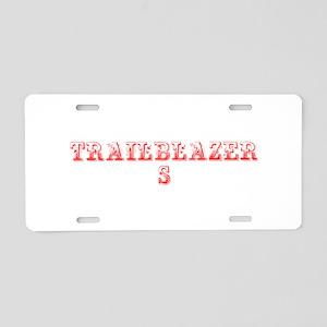 Trailblazers-Max red 400 Aluminum License Plate