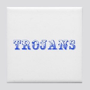 Trojans-Max blue 400 Tile Coaster
