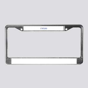 twins-Max blue 400 License Plate Frame