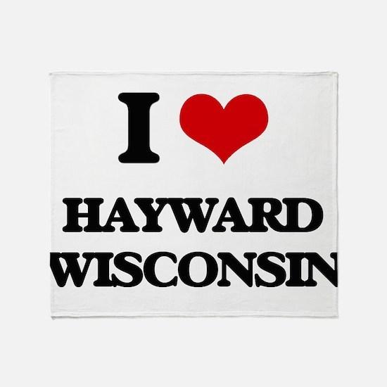 I love Hayward Wisconsin Throw Blanket