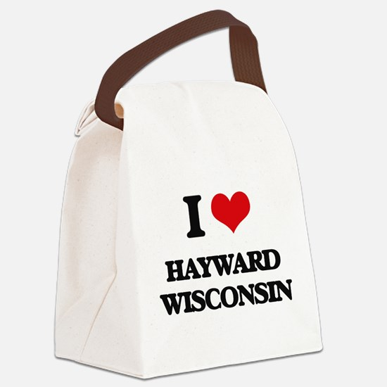 I love Hayward Wisconsin Canvas Lunch Bag