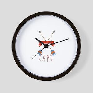 Camp Arrows Wall Clock