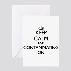 Keep Calm and Contacts ON Greeting Cards
