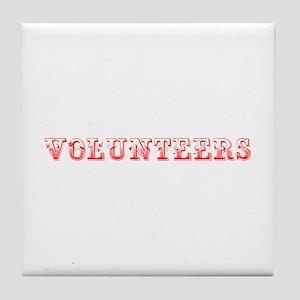 Volunteers-Max red 400 Tile Coaster