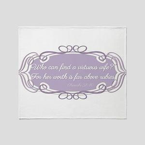 Proverbs 31:10 Throw Blanket
