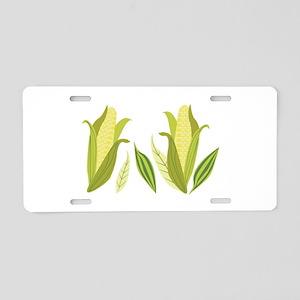 Ears Of Corn Aluminum License Plate