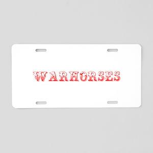 Warhorses-Max red 400 Aluminum License Plate