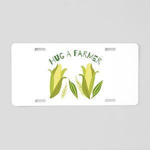 Hug A Farmer Aluminum License Plate