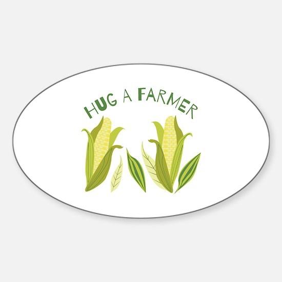 Hug A Farmer Decal