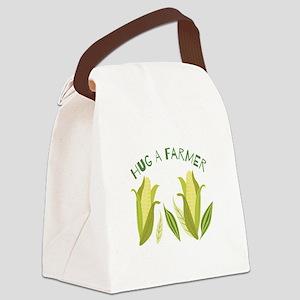 Hug A Farmer Canvas Lunch Bag