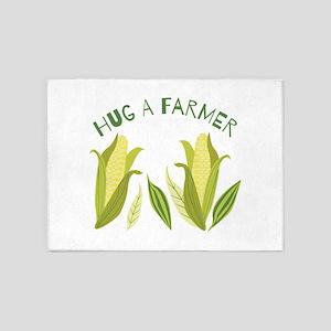 Hug A Farmer 5'x7'Area Rug
