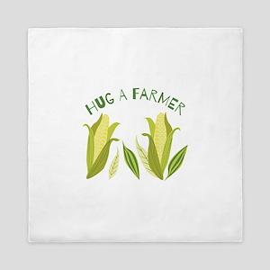 Hug A Farmer Queen Duvet