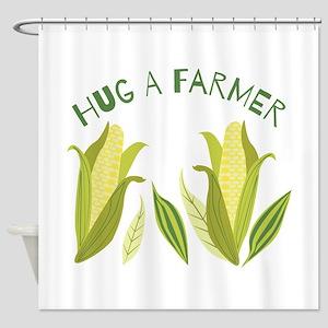 Hug A Farmer Shower Curtain