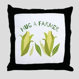 Hug A Farmer Throw Pillow
