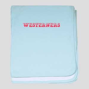 Westerners-Max red 400 baby blanket