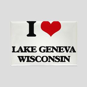 I love Lake Geneva Wisconsin Magnets