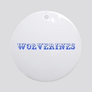 Wolverines-Max blue 400 Ornament (Round)