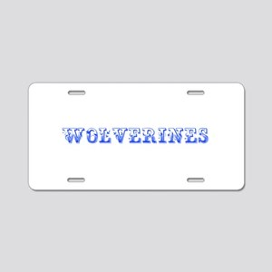 Wolverines-Max blue 400 Aluminum License Plate