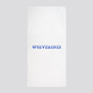 Wolverines-Max blue 400 Beach Towel