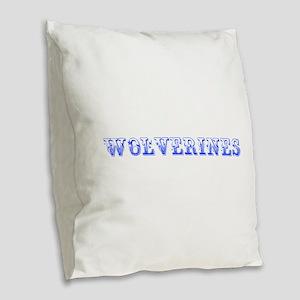 Wolverines-Max blue 400 Burlap Throw Pillow