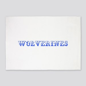 Wolverines-Max blue 400 5'x7'Area Rug
