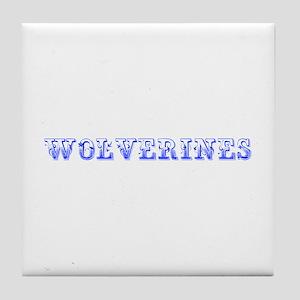 Wolverines-Max blue 400 Tile Coaster