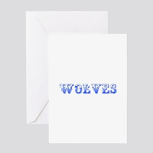 Wolves-Max blue 400 Greeting Cards