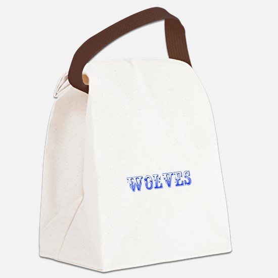 Wolves-Max blue 400 Canvas Lunch Bag