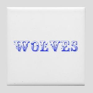 Wolves-Max blue 400 Tile Coaster
