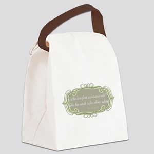 Proverbs 31:10 Canvas Lunch Bag