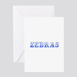 Zebras-Max blue 400 Greeting Cards